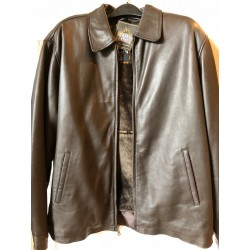 Casual lamb leather jacket brown 2009br