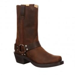 Men's Durango Brown Harness Western Boots