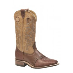 Boulet Bullhide Cognac Grizzly Sand Wide Square Toe Boot 0231