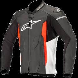 Alpinestars Faster Leather Jacket B/W/R