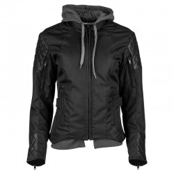 DOUBLE TAKE Ladies Textile Jacket Black by Speed & strength