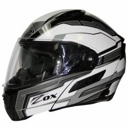 Modular / Flip up Helmet with drop down visor Delta SILVER Zox Condor