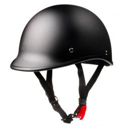 Polo Style Beanie Matte Flat Black Motorcycle Helmet