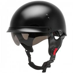Gmax HH-65 Twin Full Dressed Half Helmet- GLOSS BLACK