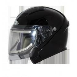 Sierra Snow Solid Glossy Black Helmet