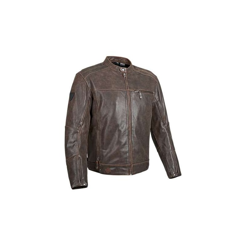 KING CRUISER 2.0 LEATHER JACKET-Brown/Black - Leather King ...