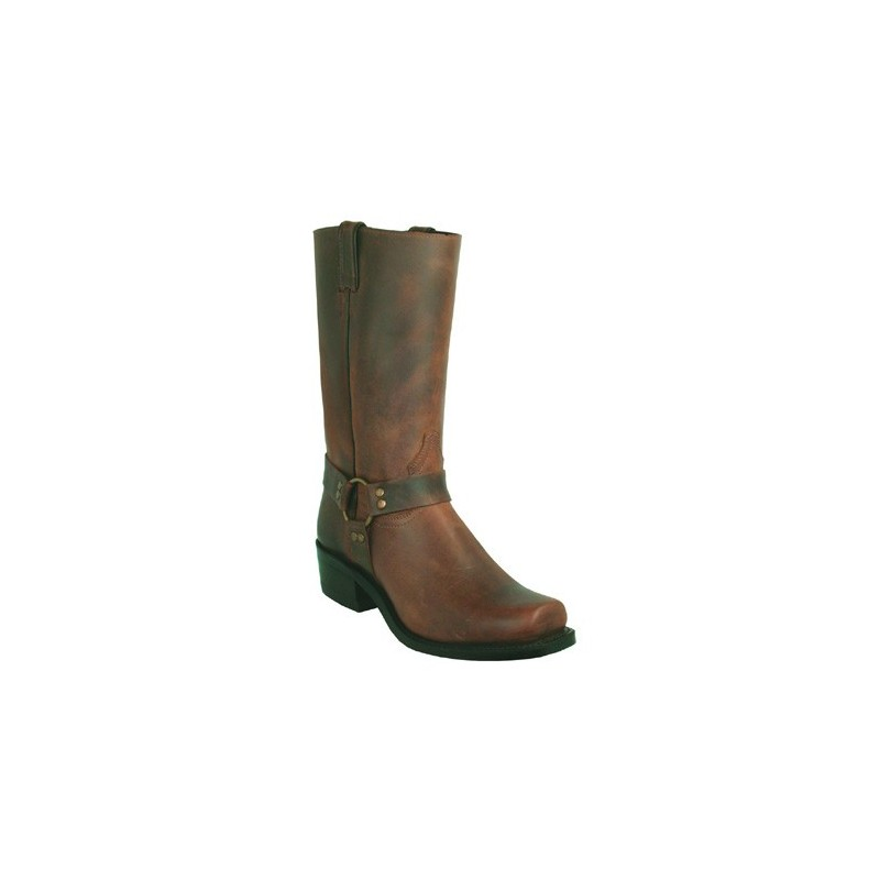 Boulet Old Town Brown Broad Square Toe Riding Boot 2131