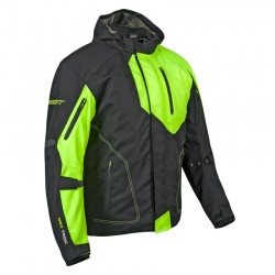 joe rockets WHISTLER TEXTILE JACKET - black / hi viz size M