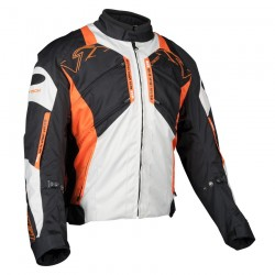TRANS CANADA TEXTILE JACKET black/ grey /orange - XL Size