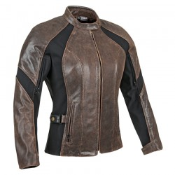 Joe Rocket RIVIERA LEATHER / TEXTILE JACKET - Vintage Brown