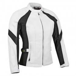 RIVIERA LEATHER / TEXTILE JACKET white