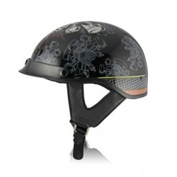 Half helmet with drop down visor -ALTO PISTON GRAPHIC