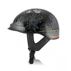 Half helmet with drop down visor -ALTO PISTON GRAPHIC