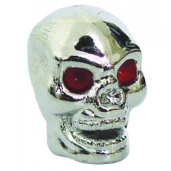 Skull Head License Bolt-Chrome