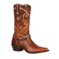 CRUSH BY DURANGO WOMEN'S HEART CONCHO WESTERN BOOT
