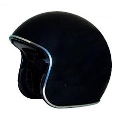 Route 80 Vintage matte black Open face helmet