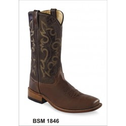 OLD WEST - Mens Broad Square Toe BSM1846