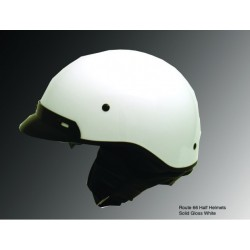 Half HELMET with Visor and Ear curtain ROUTE 66N White