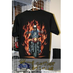 Flaming Skeleton Rider Tee