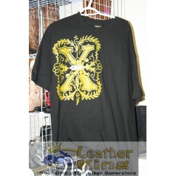 Xtrme Gold on Black Tee