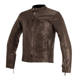 Alpinestars BRASS Leather Jacket BROWN