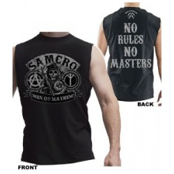 No Rules No Masters muscle T