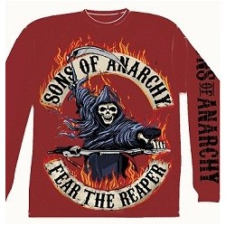 Reaper riding in flames L.S T red