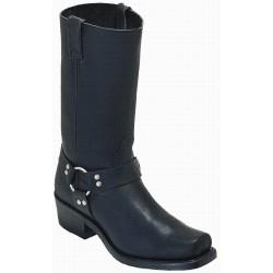 Boulet mens Grsso Black Broad Square Toe Boot-0017