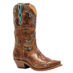 "Boulet 12"" Ladies Gerico Brown Puma Madera Snip Toe Boot 4622"