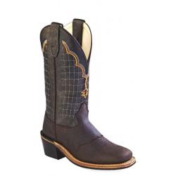Old West Buckaroo Broad Square Toe Boots- BSY1865