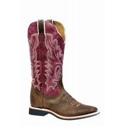 "Boulet 13"" Ladies Extralite HillBilly Golden Lava Magenta wide square toe boot 4749"