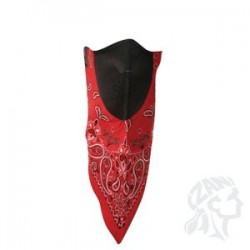 Face Mask cotton/neoprine -red paisley