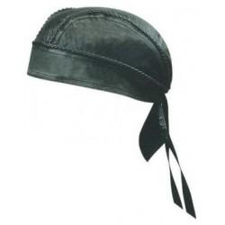 LEATHER SKULL Cap- black