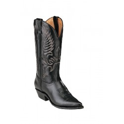 """BOULET's Challenger 12"""" Sporty Black Womens Narrow Pointed Toe 4040"""