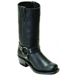 "BOULET's 12"" Women's Grasso Black Vagabond Toe Riding Boot 2064"