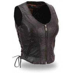 WOMEN'S Clean Side-lace Motorcycle Vest 542