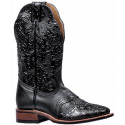 """Boulet 12"""" Ladies Dankan Black Torino Calf Wide Square Toe Boot 5167"""