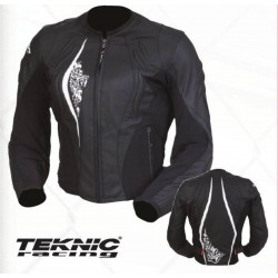 Teknic's VENOM-WOMENS LEATHER JACKET- Black