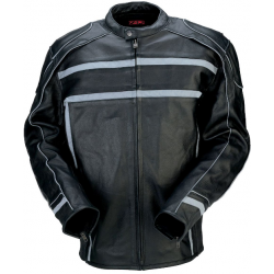 Z1R - Leather Jacket with Reflective Trims - 444