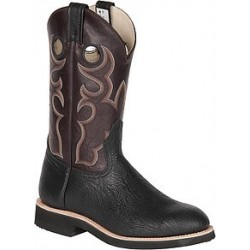 "Men's 12"" Black Glazed Taurus/Brown Barcelona Brahma Spongy Ropers 7004"