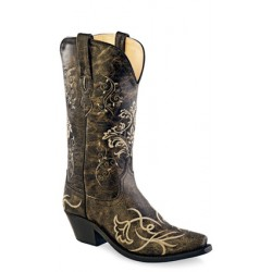 Old West Ladies Vintage Charcoal Fashion Wear Boot - LF1587