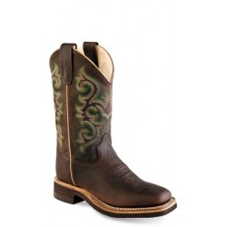 Old West BSY1822 Youth Broad Square Toe Boots