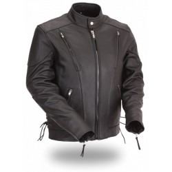VENTED Cruiser Motorcycle Leather Jacket 1010