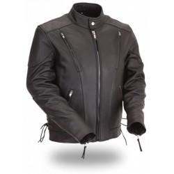 VENTED Cruiser Motorcycle Leather Jacket 1010