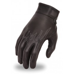 WOMENS Driving GLOVE w/ Flame embroidary design