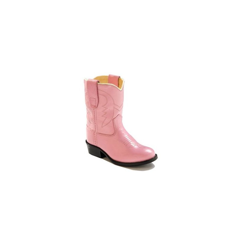 b0d080327a0 Old West 3119 Toddler's Western Boots - Pink