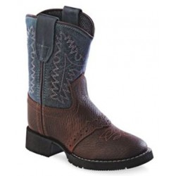 Old West CW2559i Toddler's Comfort Wear Western Boots - Rust/Denim