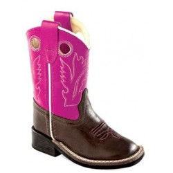 Old West Toddler-Girls' Purple Western Cowboy Boot Square Toe - Bsi1851