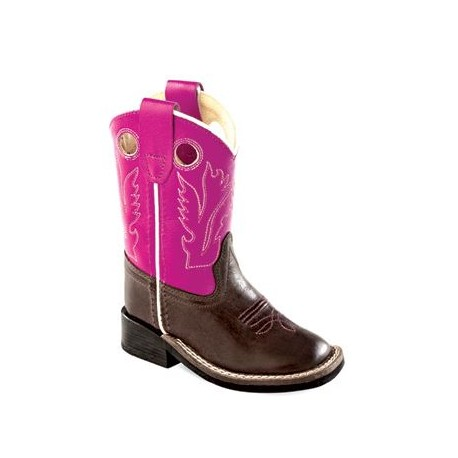 2fd27080548 Old West Toddler-Girls' Purple Western Cowboy Boot Square Toe - Bsi1851
