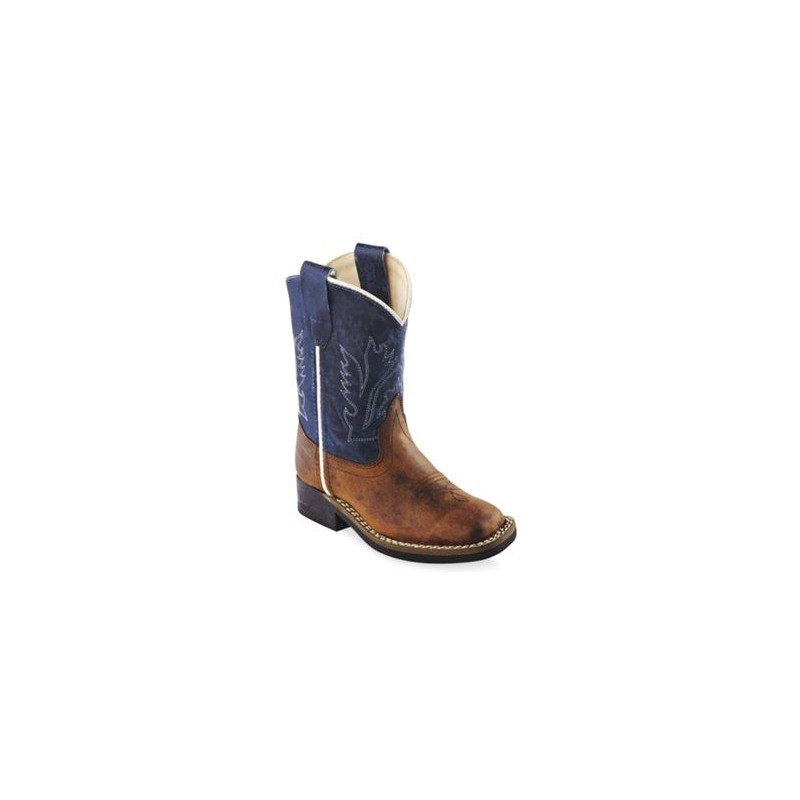 28ae343b9e1 Old West BSI-1884 Toddler Blue Shaft Western Boot – Broad Square Toe